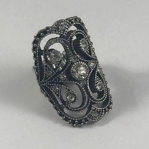 Vintage Jewelry - Vintage Silver Tone Ring, Vintage Jewelry, Size 6